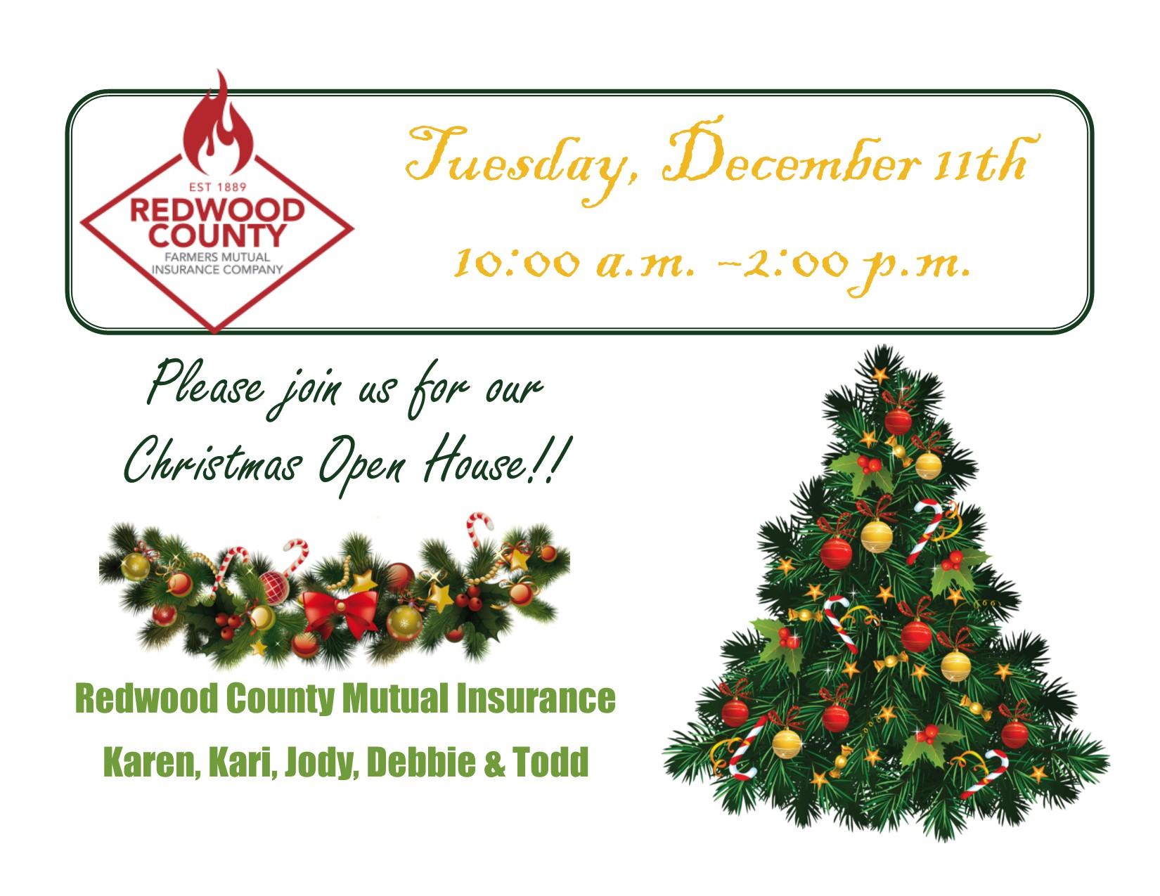 Christmas Open House.Christmas Open House Redwood County Farmers Mutual